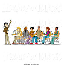 Student At Desk by Student Sitting Clipart 44