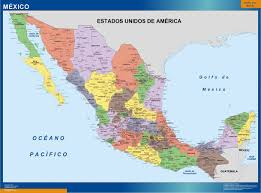 political map of mexico wall maps store mexico political map more than 10 000