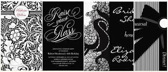 black and white invitations stylish black white dinner party invitations partyinvitecards