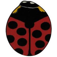 Ladybug Area Rug Area Rug Ladybug Playroom Nursery Decor Imported Synthetic