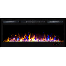 Wall Mount Electric Fireplace Regal Flame 36 Inch Lexington Crystal Recessed Touch Screen Multi