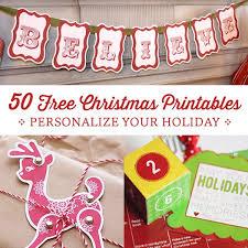 50 free christmas printables personal creations blog