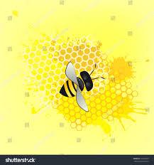 abstract honey bee honeycomb vector stock vector 175312925