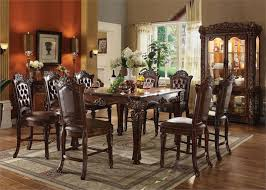 counter height table sets with 8 chairs vendome counter height dining acme 62025