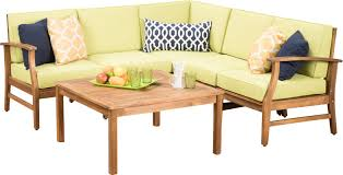 lark manor pardue wooden 6 piece seating group u0026 reviews wayfair