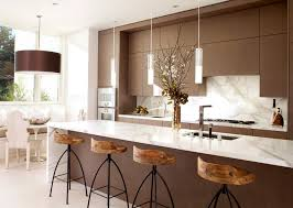 kitchen with island and breakfast bar 28 bar stools with metal and wood finishes