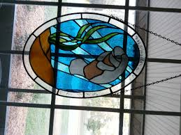manatee stained glass from class they make a great pair in our