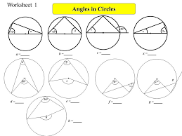 angles in circles objectives b gradeuse the angle properties of a