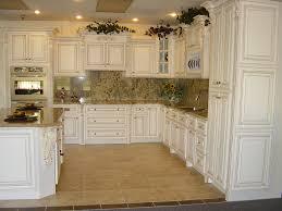 simple kitchen design with fancy marble tiles backsplash also