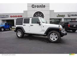 white jeep wrangler unlimited 2016 bright white jeep wrangler unlimited sport 4x4 108435687