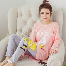 kadın pijama moda kadın pamuk karakter güzel tatlı pijama setleri