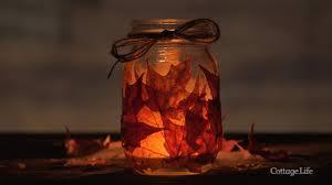 diy fall leaves mason jar candle holder youtube