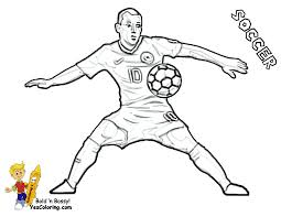 soccer player coloring pages free printable coloring 2920