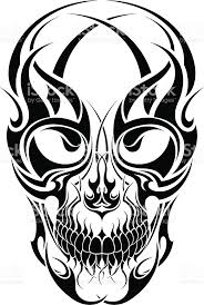 tribal tattoo skull design stock vector art 154419719 istock