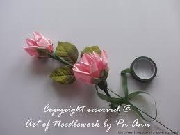 silk ribbon roses silk ribbon simple way