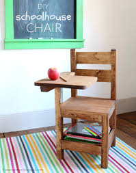 Ana White Desk Plans by Ana White Schoolhouse Chair With Writing Pad Desk Diy Projects