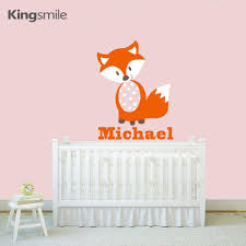 baby names wall art promotion shop for promotional modern fox wall stickers alphabet personalized name decals vinyl art baby nursery stick kids rooms home decor size xcm