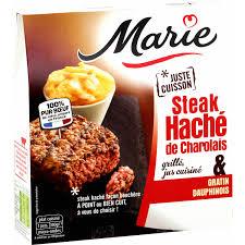 cuisine steak haché steak haché grillé de charolais gratin dauphinois la boite