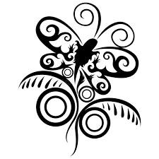 abstract pattern butterfly abstract pattern butterfly and flower stock vector illustration