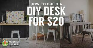 Build A Reception Desk Plans by How To Build A Desk For 20 Bonus 5 Cheap Diy Desk Plans U0026 Ideas