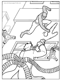 spider man free coloring page spider man fighting doctor octopus