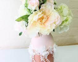 Mason Jar Floral Centerpieces Blush Mason Jar Etsy