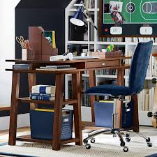Trestle Computer Desk Customize It Storage Trestle Desk Pbteen