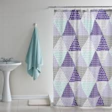 Circles Shower Curtain Purple Shower Curtains With Triangle Shape Of Circles Pattern