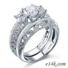 sterling engagement rings images Sterling silver round three stone antique inspired filigree cz jpg