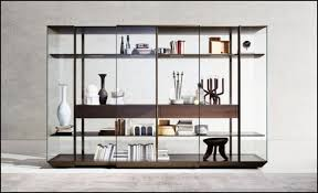 Used Display Cabinets Glass Door Display Cabinet Millie Drifted Black Oak Wood Glass