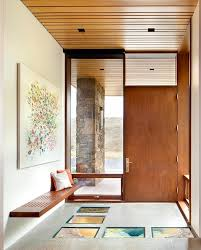 entry foyer contemporary with modern architecture mount ceiling