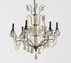 Ivory Chandelier Ivory Wood Beaded Iron Chandelier