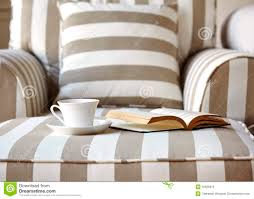 sofa with coffee and book home interior lifestyle stock photo