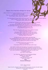 Comforting Poems About Death Horse Rainbow Bridge Poem