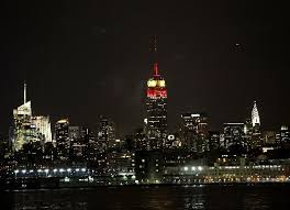empire state building lights tonight giants david tyree lights up empire state building nj com