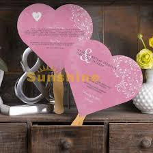 wedding programs sle custom heart shape wedding invitations card program fans pink