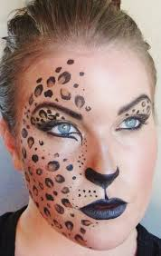 leopard half mask halloween cool creepy mysterious pretty face