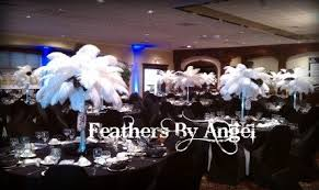 Ostrich Feather Centerpieces Feathers By Angel Rent Ostrich Feather Centerpieces Lighting