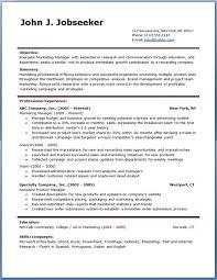 free professional resumes resume job