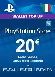 ps4 gift card buy playstation network card 20 italy ps4