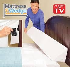 tv bed pillow mattress wedge bed topper pillow wedge as seen on tv