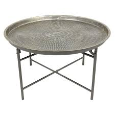 coffee table breathtaking round metal coffee table large round