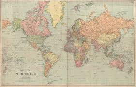Old World Maps by 3686 2357 Ca 1920 Stanford U0027s General Map Of The World Mapporn