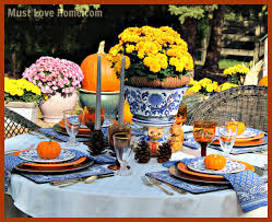 blue white and woodland table must home