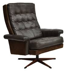 Mid Century Modern Swivel Chair by Danish Leather Swivel Chair On Chrome Base C 1960 The Old Cinema