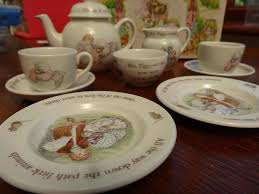 wedgwood rabbit tea set mrs tiggywinkle porcelain china children s tea set by wedgwood