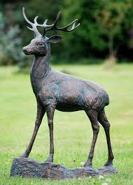 deer stag bronze metal garden statues buy now at http www