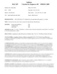 mat 267 syllabus mathematics 267 with zhu at arizona state