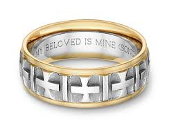 bible verse rings ancient cross bible verse wedding band ring