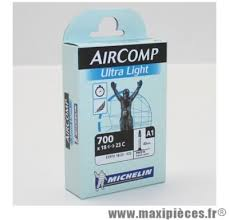 chambre a air 700 23c chambre à air vélo michelin aircomp ultra light 700 x 18 23c maxi